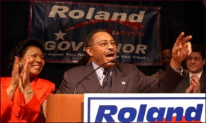 Former Illinois Attorney General Roland Burris during his 2002 campaign for governor. (AP photo)
