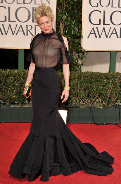 Renee Zellweger at the Golden Globe Awards (Wire Image)