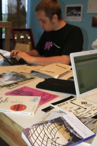 The Underground Library contains a variety of magazines, books and zines by local Chicago writers and artists. By Erica Christoffer
