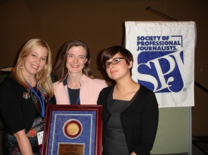 From left: Erica Christoffer, Suzanne McBride and Becky Schlikerman